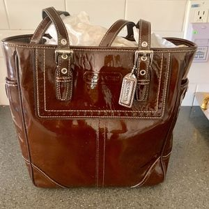Beautiful Patent Leather Coach Bag